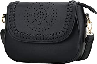 KKXIU Crossbody Bags for Women Hollow Purses with Adjustable Strap