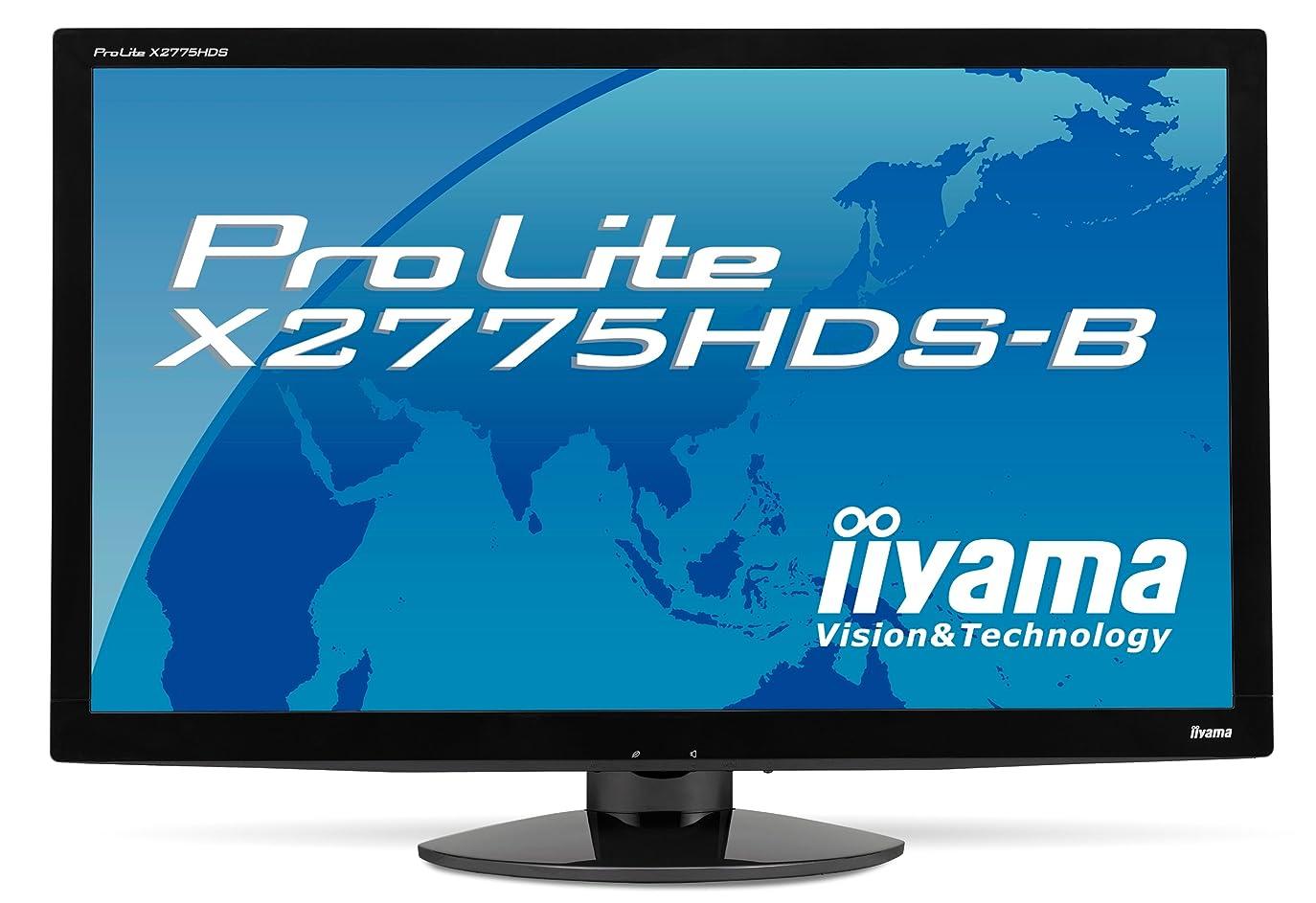 モンゴメリー熟読する州iiyama 27インチワイド液晶ディスプレイ VAパネル LEDバックライト USBハブ搭載 HDMIケーブル同梱モデル マーベルブラック PLX2775HDS-B1