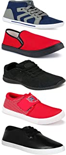 WORLD WEAR FOOTWEAR Sports Running Shoes/Casual/Sneakers/Loafers Shoes for MenMulticolors (Combo-(5)-1219-1221-1140-748-114)