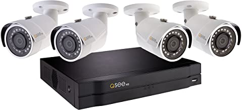 Q-See Home Security System (QC894-4ES-1) 4-Weather 1080p HD NVR with 1TB Hard Drive and 98' Night Vision, Indoor and Outdoor, Smart Phone Compatible