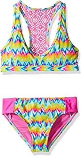 Girls' Big Hippy Chic Two Piece Crochet Racer Back Swimsuit