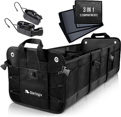 Starling's Car Trunk Organizer - Car Boot Storage Bag, Durable Storage SUV Cargo Organiser Adjustable, Tidy Organizat...