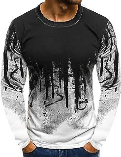 k zhuke Hombres Camuflaje Impreso Camiseta Masculina Bottoms Top tee Streetwear Camisetas De Fitness De Manga Larga Camiseta Deportiva De Personalidad para Hombres Derrick Aled