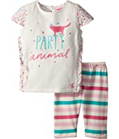 Joules Kids Frill Top with Crop Leggings Set (Infant)