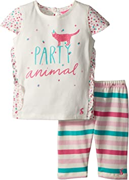 Joules Kids - Frill Top with Crop Leggings Set (Infant)