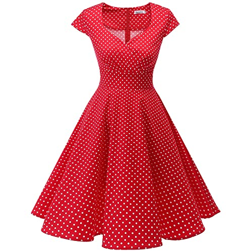 d77264bff423c bbonlinedress Women s 50s 60s A Line Rockabilly Dress Cap Sleeve Floral  Vintage Swing Party Dress