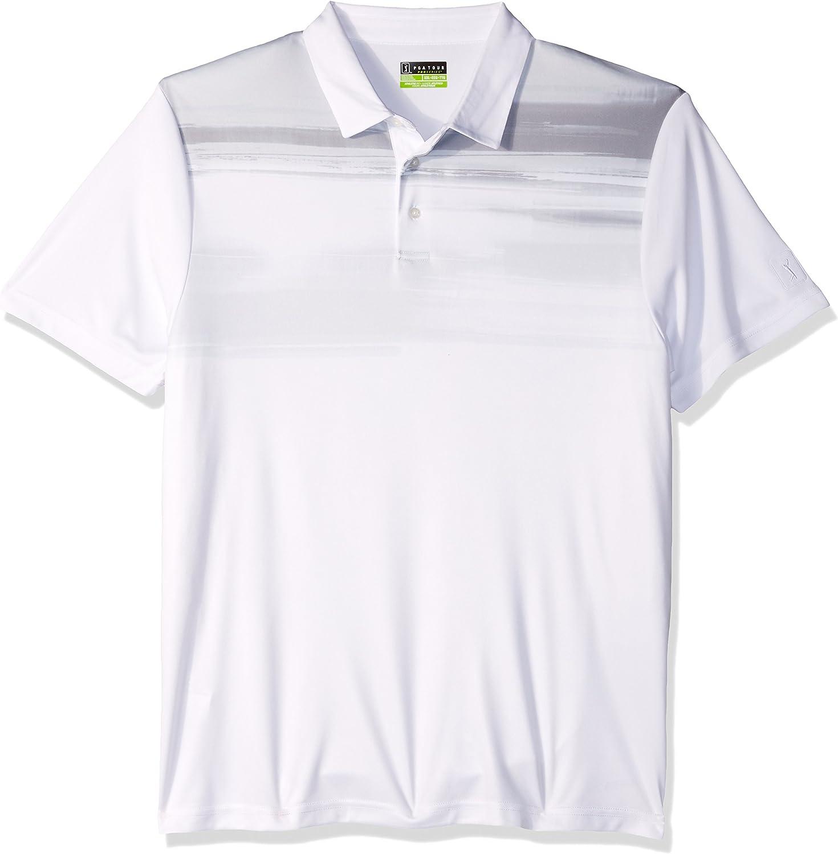 2be7ba40ed28 PGA TOUR Men's Short Sleeve Asymmetrical Asymmetrical Asymmetrical Printed Polo  Shirt fb4a84