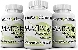 Maitake Mushroom for Immune Support - Pack of 3 - Powerful 10:1 Maitake Extract - Standardized 30% Polysaccharides - Veget...