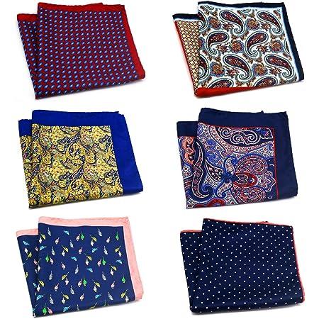 12.5 x 12.5 inch Mens Luxury 100/% Silk Pocket Square 32 x 32 cm