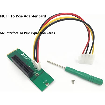 Bee easter NGFF to PCI-E Riser Card M.2 Port to PCIE Expansion Card NGFF to PCI-E X4 Slot Adapter