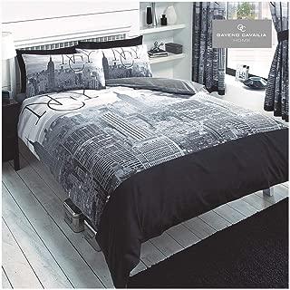New York City Black Single/US Twin Duvet and Pillowcase Set