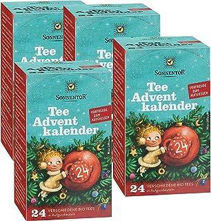 Té de té de calendario de Adviento–Pack de 4