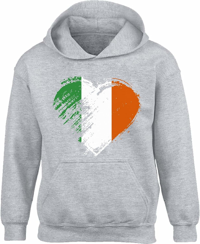 Vizor Irish OFFicial shop Heart Hooded Sweatshirt Unisex Flag SALENEW very popular! Hoodies St