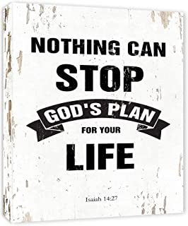 Isaiah 14:27 Nothing Can Stop God's Plan for Your Life Bible Verse - Framed - Canvas Print Home Decor Wall Art, Gallery Wrap Inner Frame, 7x9, White