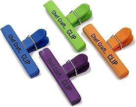Chef Craft 42023 Bag Clip Set, Large, Green/Blue/Orange/Purple