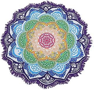 7 59L*51W decorazione per la casa multiuso. arazzo floreale con mandala indiano QCWN boh/émien Poliestere telo mare copriletto