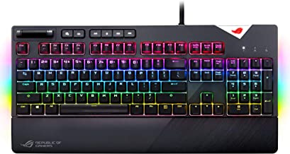 Asus ROG Strix Flare (CMB) Aura Sync RGB Mechanical Gaming Keyboard with (Cherry MX Blue) Switches, Customizable Badge, US...