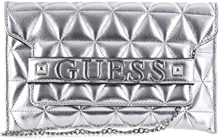 Luxury Fashion | Guess Womens HWMY7407720SILVER Silver Clutch | Fall Winter 19