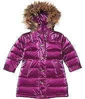 Shiny Long Down Coat w/ Faux Fur Hood (Toddler/Little Kids/Big Kids)