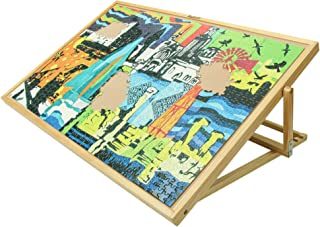 Becko Adjustable Wooden Puzzle Board Jigsaw Puzzle Plateau Puzzle Board with Easel for Adults and Kids for Puzzles Up to 1...