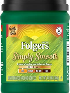 Folgers Simply Smooth Decaf Coffee, 11.5 Ounce, Packaging May Vary