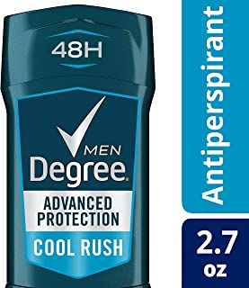 Degree Adrenaline Series Anti-Perspirant and Deodorant Invisible Solid for Men, Cool Rush, 2.7 Ounce (Pack of 12)