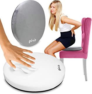 pivit Swivel Seat Cushion | 360 Degree Rotation Converts Any Chair Into a Comfortable Swiveling Chair | Reduces Pressure Point Sensitivity & Alleviates Back, Knee & Hip Pain | Supports up to 300 lbs.