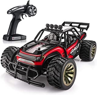 SGILE Remote Control Car with 2 Battery, Gift for 6-12 Years Old Kids, 1:16 15KM/H RC Drift Race Crawler Car Toy, Red