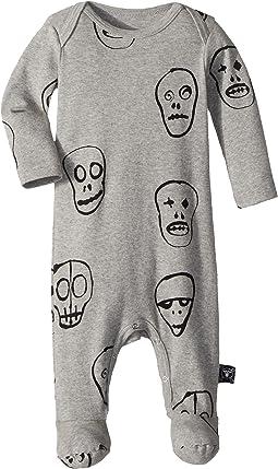 Nununu Skull Mask Footed Overall (Infant)