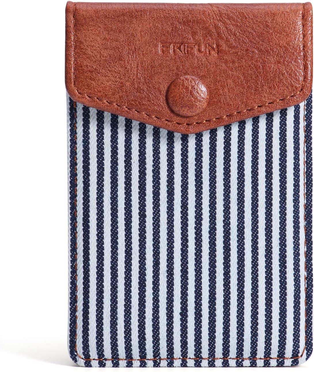 FRIFUN Card Holder for Back of Ultra-Slim with Self Award Choice snap Phone A