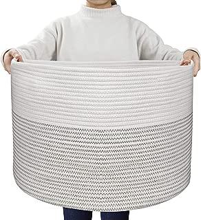 UBBCARE Extra Large Cotton Rope Basket 21.7