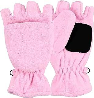 d0f23e26a90 Women s Fleece Convertible Mittens Fingerless Gloves