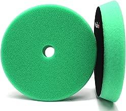 Maxshine High Pro Foam Pad- Perfectly Used with DA/RO Polisher (6.2 inches/ 155-175X30mm, Green Foam Heavy Cutting Pad)