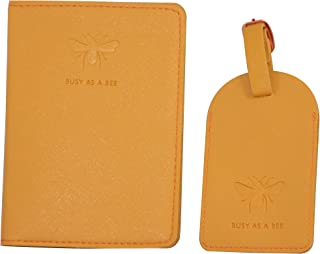 "Sophie Allport""Bees"" Faux Leather Passport Case and Luggage Tag Set"