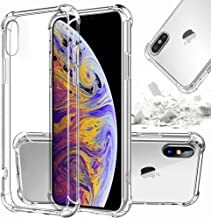 Storm-Buy Hybrid Hard Clear Phone Case Compatible for [ iPhone XR ] [Shock Absorption] Clear Back Cover Plus TPU Bumper Cushion with Reinforced Corners for iPhone XR (Clear IP XR)