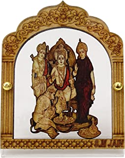 stylewise Decorative Religious Ram Darbar Plastic Statue Office Car Dashboard Table Decor