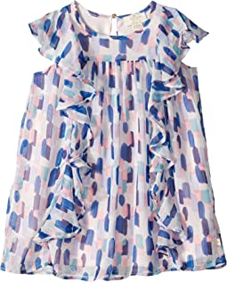 Brush Strokes Ruffle Dress (Toddler/Little Kids)