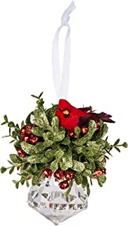 Kissing Krystal Acrylic Prism with Red Cardinal Hanging Ornament by Ganz,7 in W x 6 in H