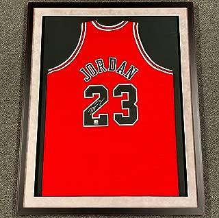 Michael Jordan Autographed Red Bulls Jersey. Signed. Upper Deck Authenticated. UDA coa. FRAMED