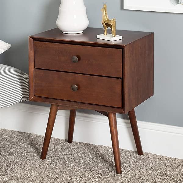 WE Furniture AZR25MC2DWT Nightstand Walnut