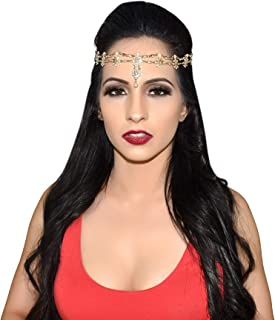 Hair Accessories for Women Gypsy Costume Fortune Teller Headpiece Hair Bands Jewelry Antique Rhinestone Crystal Gold-Tone & Silver-Tone Belly Dancer Genie Indian Accessories Headbands