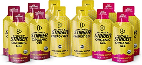 Honey Stinger Organic Energy Gels – Variety Pack – 12 Count – 4 of Each Flavor – Energy Source for Any Activity –Acai Pomegranate, Gold & Fruit Smoothie