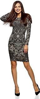 fe80f76f13a oodji Collection Mujer Vestido de Punto con Estampado Étnico