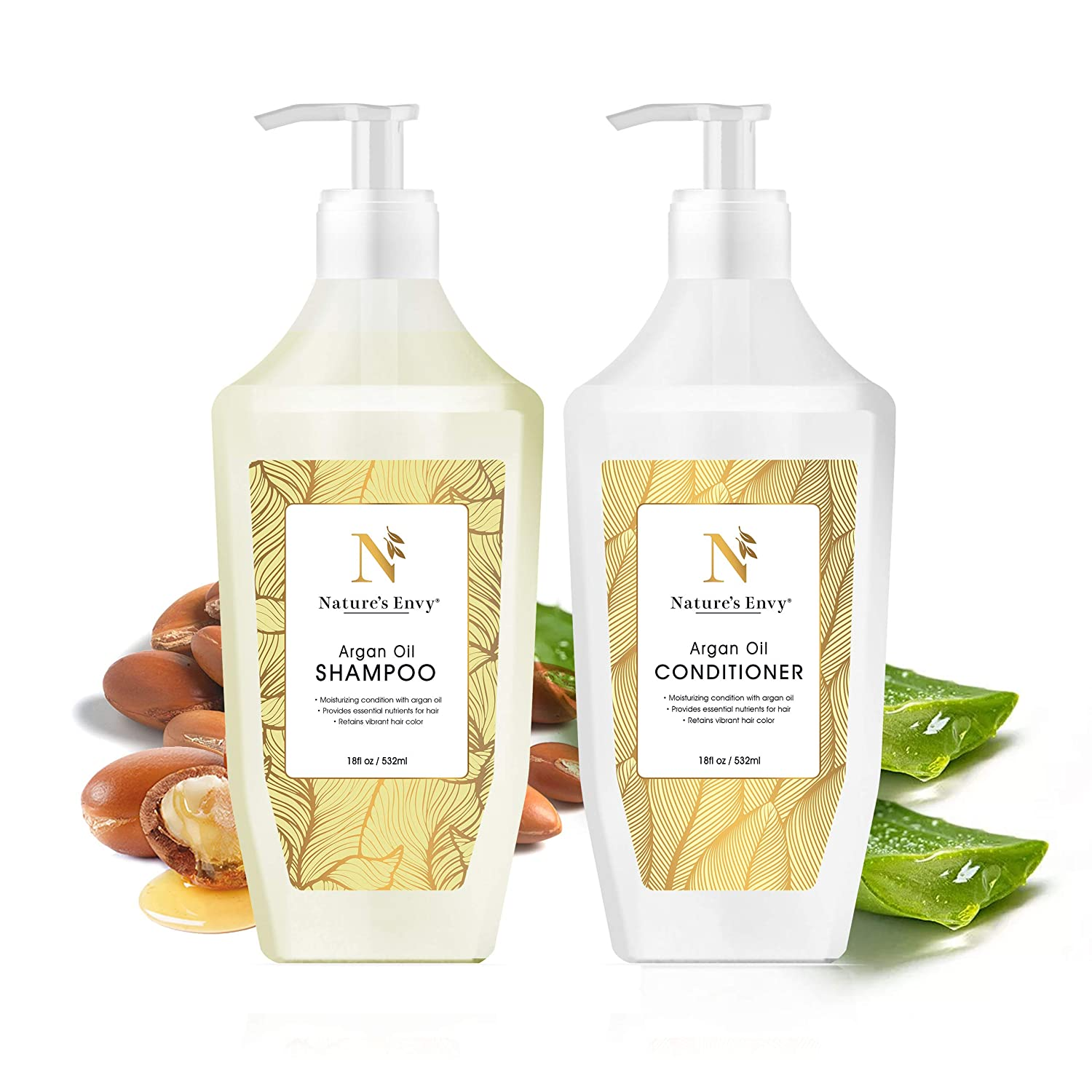Argan Oil Shampoo and Conditioner Set Hydrates Moisturizes Free shipping Max 59% OFF - Dr