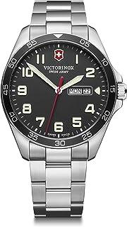 Victorinox - Hombre Field Force - Reloj de Acero Inoxidable de Cuarzo analógico de fabricación Suiza con día/Fecha 241849