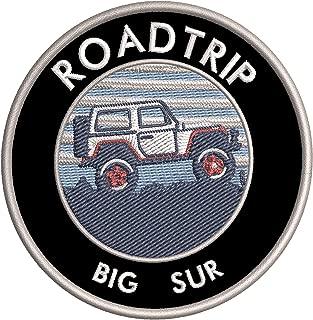 Roadtrip! Big Sur, California Embroidered DIY Iron on or Sew-on Decorative Patch Badge Emblem Appliques ~ Explore Wander Adventure Souvenir Series