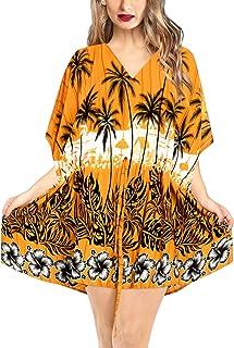 808032b072 LA LEELA Cover up Beach Bikini Swimwear Swimsuit Kaftan Dress Women Printed