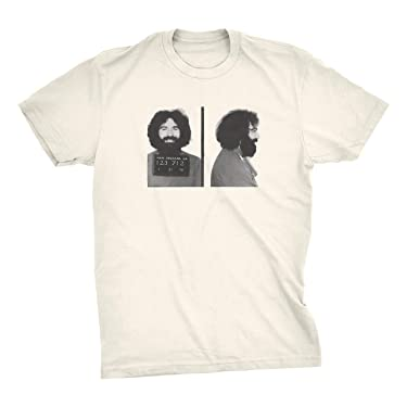 ZJ Designs Jerry Garcia Mugshot T-Shirt Grateful Busted on Bourbon Street