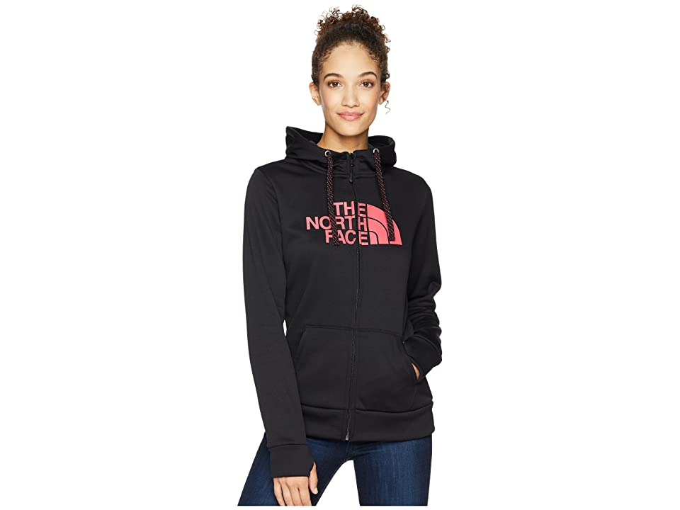 The North Face Fave 1/2 Dome Full Zip 2.0 (TNF Black/Atomic Pink) Women