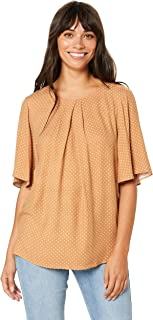 FATE + BECKER Women's Fire Flies Blouse, Caramel/Pearl